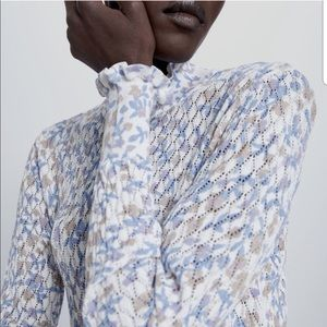 ZARA Printed Knit Sweater